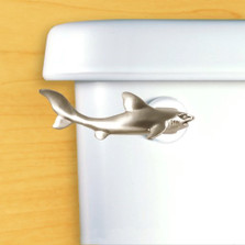 Shark Toilet Flush Handle | Satin Pewter