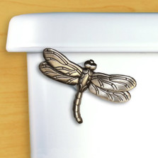 Dragonfly Toilet Flush Handle | Satin Pewter