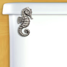 Seahorse Toilet Flush Handle | Satin Pewter