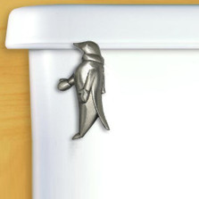 Penguin Toilet Flush Handle | Satin Pewter