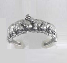 Hippo Sterling Silver Bracelet | Nature Jewelry
