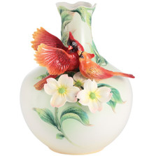 Companion Cardinal Porcelain Vase | FZ03014