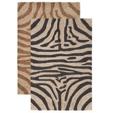 Zebra Print 7' x 9' Area Rug