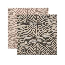 Zebra Print Square Area Rug