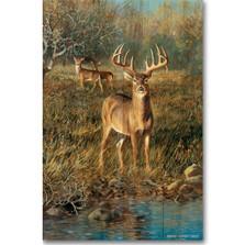 """Buck Deer Wood Wall Art """"First Light"""""""