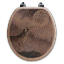 "Wolf Toilet Seat ""Kindred Spirit"""
