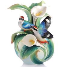 Blue-Winged Pitta Vase Happy Encounter | FZ03123