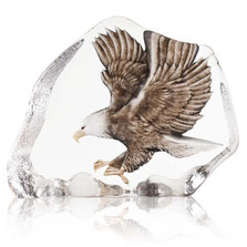 Eagle in Flight Color Crystal Sculpture | 34087
