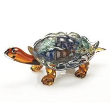 Turtle Art Glass Sculpture