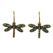 Dragonfly Eurowire Earrings | Nature Jewelry