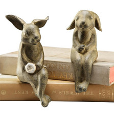 Bunny Shelf Sitters Sculptures | 33517