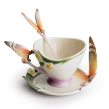 Butterfly Cup Saucer Spoon | xp1693