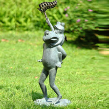 Frog Butterfly Chasers Garden Sculpture | 34254