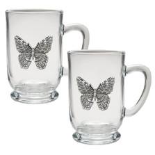Butterfly Coffee Mug Set of 2
