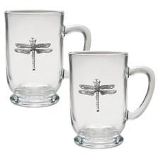 Dragonfly Coffee Mug Set of 2