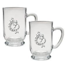 Gecko Coffee Mug Set of 2