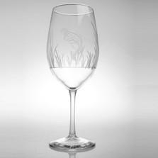 """Bass 18 oz Wine Glass Set of 4 """"Lake Fish"""""""