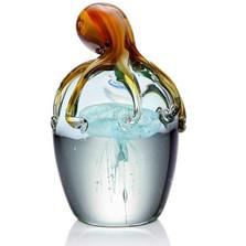 Octopus and Jellyfish Art Glass Sculpture | 76087