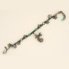 Seahorse Single Strand Starfish Charm Bracelet | Nature Jewelry