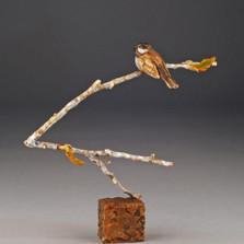 """Chickadee Bronze Sculpture """"High Perch"""""""