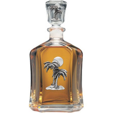 Palm Tree Capitol Decanter