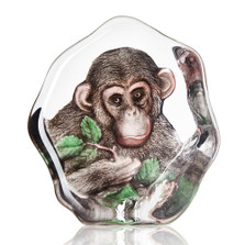 Chimpanzee Painted Crystal Sculpture | 34202