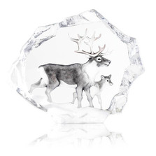 Reindeer Ltd Ed Crystal Sculpture | 34150