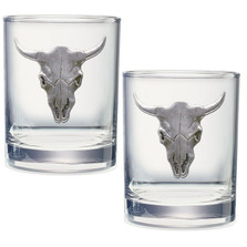Longhorn Double Old Fashioned Glass Set of 2
