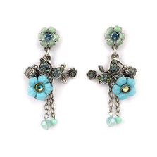 Butterfly Floral Earrings | Nature Jewelry