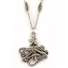 Octopus Starfish Necklace | Nature Jewelry