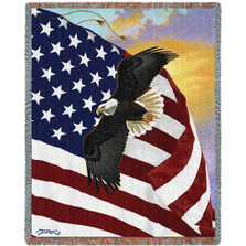 """Eagle Tapestry Throw Blanket """"Majestic Eagle"""""""