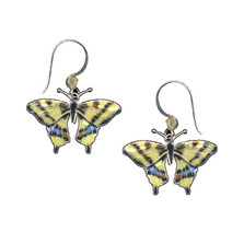 Swallowtail Butterfly Cloisonne Wire Earrings | Nature Jewelry