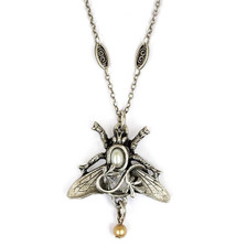 Bee and Vine Pendant Necklace | Nature Jewelry