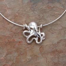 "Octopus Pendant Necklace ""Leggs"" | Roland St. John Jewelry"