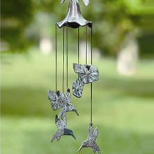Morning Glory & Hummingbird Wind Chime | 33078