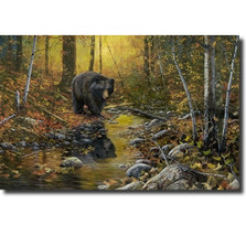 "Bear Print ""Last Days of Autumn"""