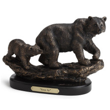 "Bear and Cub Sculpture ""Keep Up"""