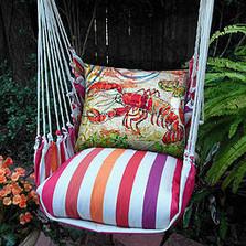 Lobster Striped Hammock Chair Swing
