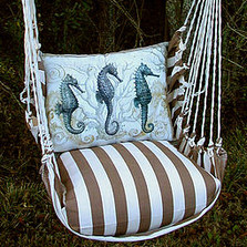 Seahorse Striped Hammock Chair Swing