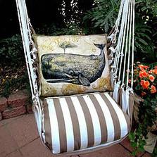 Whale Striped Hammock Chair Swing