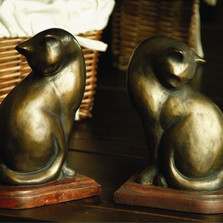 Contemporary Cat Bookends | 50300