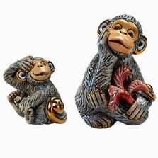 Monkey and Baby Ceramic Figurine Set | Rinconada
