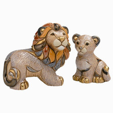 Lion and Cub Ceramic Figurines | De Rosa | Rinconada