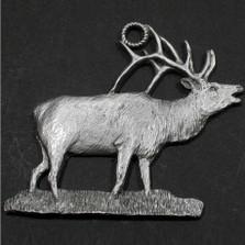 Elk Pewter Ornament