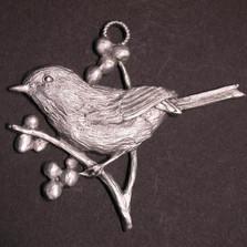 Chickadee Pewter Ornament