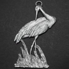 Sandhill Crane Pewter Ornament