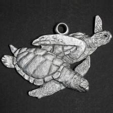 Sea Turtle Pewter Ornament