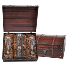 Seahorse Beer Glass Chest Set