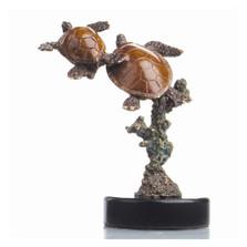 Double Sea Turtle Sculpture | 80098