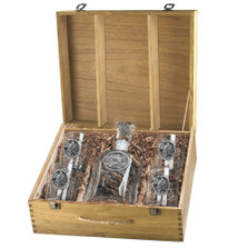 Eagle Capitol Decanter Boxed Set   Heritage Pewter   HPICPTB109
